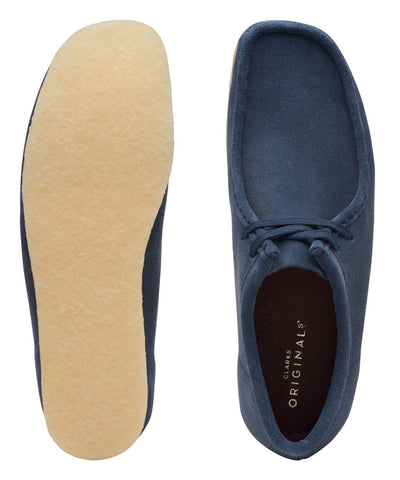 Clarks Wallabee in Deep Blue Suede