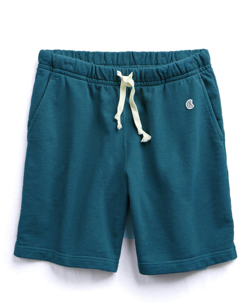 The Warm Up Short in Petrol Blue