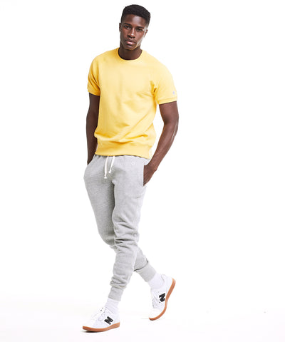 Terry Short Sleeve Sweatshirt in Golden Yellow