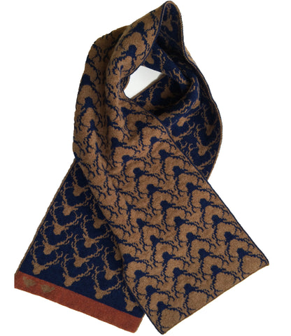 NEW Blue reverse Stag Scarf