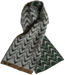 NEW Green Reverse Stag Scarf