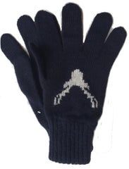 Navy Stag Gloves (was £28 now £15)