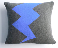 Blue Lightning Cushion (was £75 now 35)