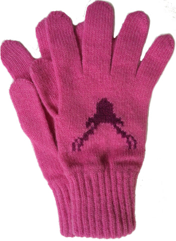 Pink Stag Gloves (was £28 now £15)