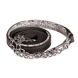 Perri's Leather Padded Lead with Chain