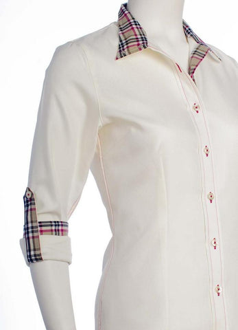 CHEVAL SHOW SHIRTS!!!!!! Cream and Burberry-like Pattern