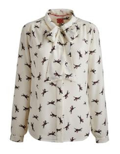 Joules Shirley Cream Horse Top