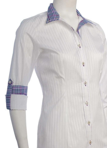 CHEVAL SHOW SHIRTS- Purple and Blue Check