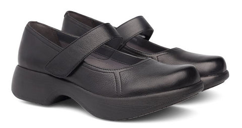 Dansko Willa in Black Milled Nappa - Pair