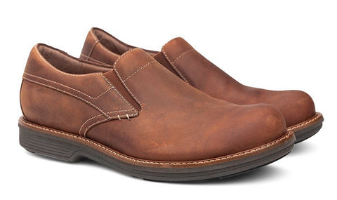 Dansko Jackson in Brown Pull Up Leather - Right 3/4 View