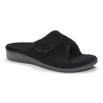 Vionic Relax Slipper in Black - Right 3/4 View
