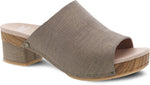 Dansko Maci in Taupe Textured Leather - Right 3/4 View