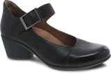 Dansko Roxanne in Black Burnished Nubuck - Right 3/4 View