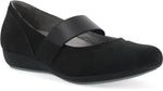 Dansko Kendra in Black Milled Nubuck - Right 3/4 view