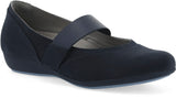 Dansko Kendra in Navy Milled Nubuck - Right 3/4 View