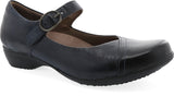 Dansko Fawna in Navy Burnished Calf - Right 3/4 View