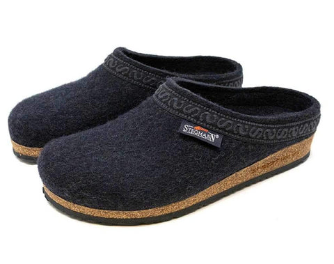 Stegmann Womens Woolfelt Clog in Graphite - Pair
