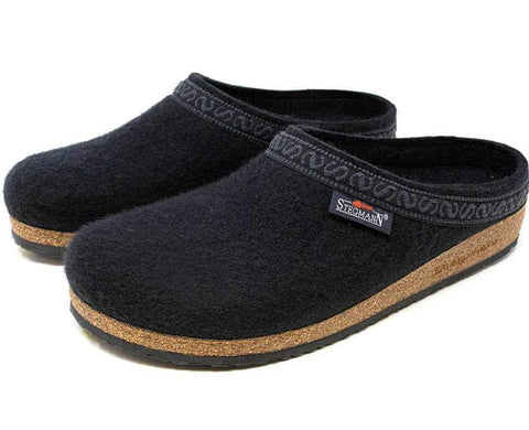 Stegmann Mens Woolfelt Clog in Black - Pair