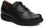 Dansko Josh in Black Antiqued Calf Leather - Right 3/4 View