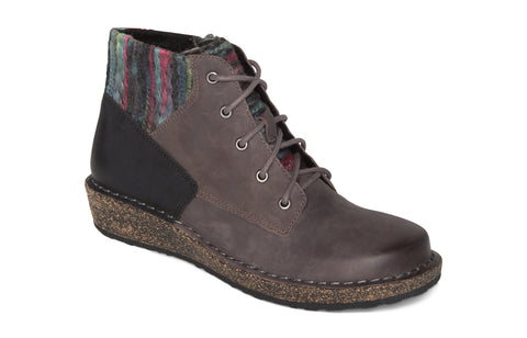 Aetrex Jolie Sweater Boot in Charcoal - Right 3/4 View