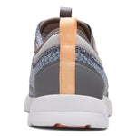 Vionic Alma Active Sneaker in Grey and Blue - Rear View