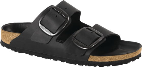 Birkenstock Arizona Big Buckle in Black Oiled Leather