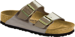 Birkenstock Arizona in Electric Metallic Taupe