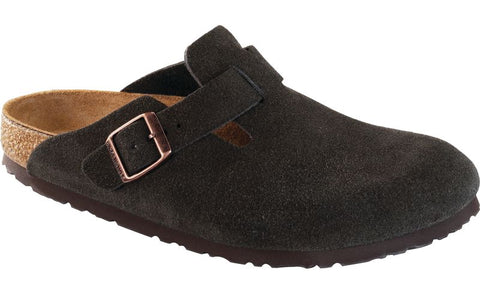 Birkenstock Boston in Mocha Suede