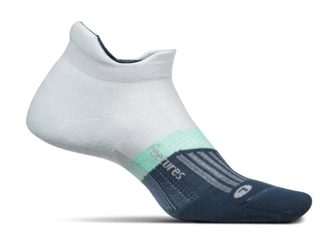 Feetures Elite Ultra Light No Show Tab sock in Morning Mist
