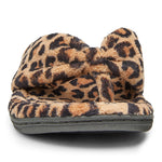 Vionic Gracie Toe Post Slipper in Natural Leopard - Front View