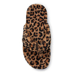 Vionic Gracie Toe Post Slipper in Natural Leopard - Top View
