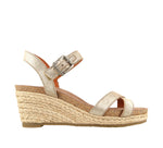 Taos Hey Jute in Stone Metallic Suede - Outside View