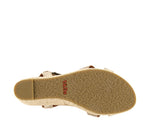 Taos Hey Jute in Stone Metallic Suede - Bottom View