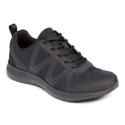 Vionic Kiara Pro Sneaker in Black - Right 3/4 View
