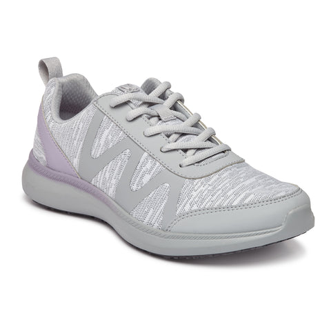 Vionic Kiara Pro Sneaker in Grey - Right 3/4 View