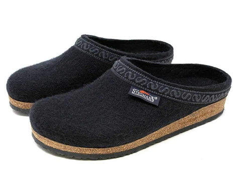 Stegmann Womens Woolfelt Clog in Black - Pair