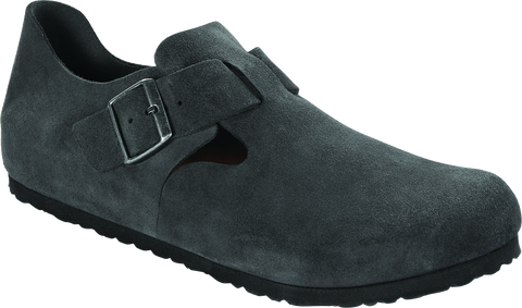 Birkenstock London in Gunmetal Suede