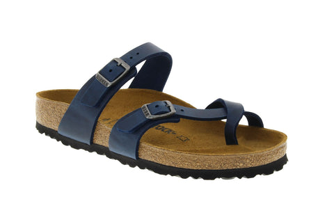 Birkenstock Mayari in Blue Oiled Leather
