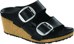 Birkenstock Nora Big Buckle in Black Oiled Leather