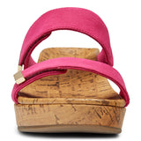 Vionic Pepper Wedge Sandal in Sorbet - Front View