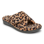 Vionic Relax Slipper in Natural Leopard - Right 3/4 View