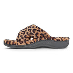 Vionic Relax Slipper in Natural Leopard - Inside View