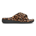 Vionic Relax Slipper in Natural Leopard - Outside View