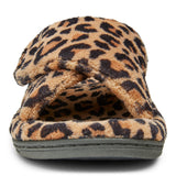 Vionic Relax Slipper in Natural Leopard - Front View
