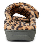 Vionic Relax Slipper in Natural Leopard - Rear View