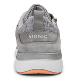 Vionic Remi Casual Sneaker in Slate Grey - Rear View