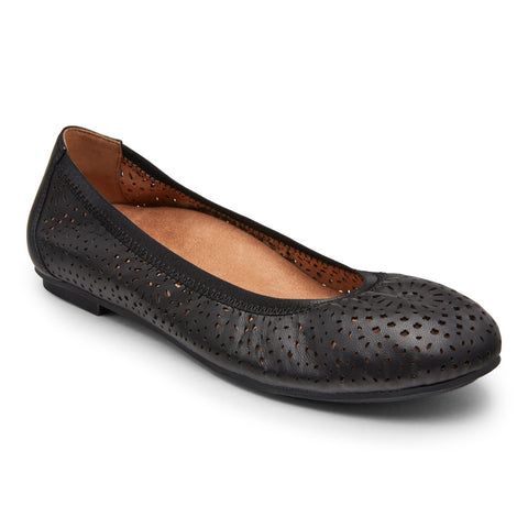 Vionic Robyn Flat in Black - Right 3/4 View
