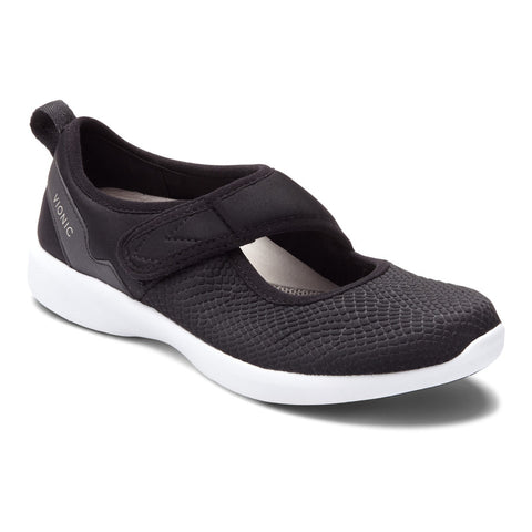 Vionic Sonnet Sneaker in Black - Right 3/4 View