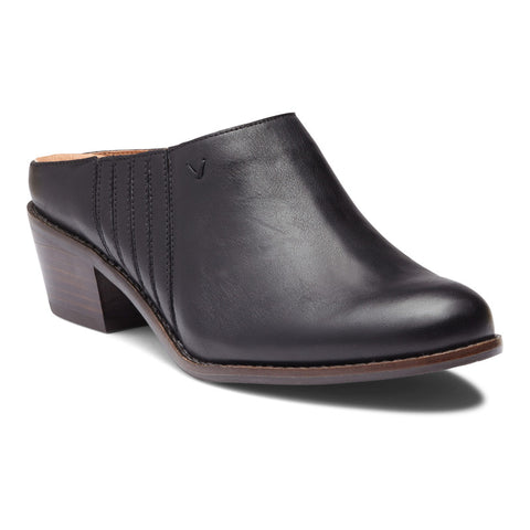 Vionic Nellie Closed Toe Mule in Black - Right 3/4 View