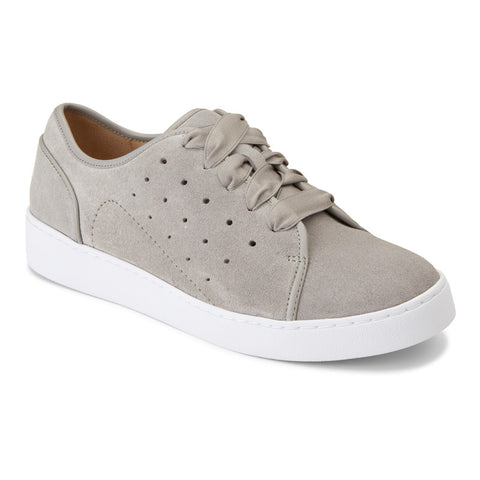 Vionic Keke Sneaker in Light Grey Suede